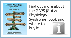Find out more about the GAPS (Gut and Physiology Syndrome) book and where to buy it