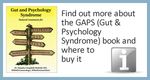 Find out more about the GAPS (Gut and Psychology Syndrome) book and where to buy it