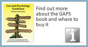 Find out more about the GAPS book and where to buy it