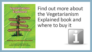 Find out more about the Vegetarianism Explained book and where to buy it